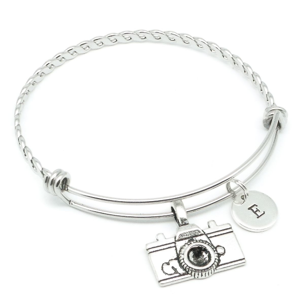 Camera bracelet gift personalised jewellery